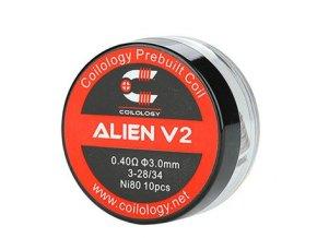 Coilology Alien V2 předmotané spirálky Ni80 0,4ohm 10ks