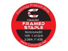 Coilology Framed Staple odporový drát Ni80 28/36