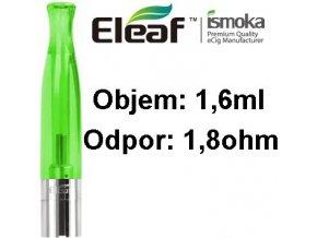 1997 ismoka eleaf bcc ct clearomizer 1 6ml 1 8ohm green