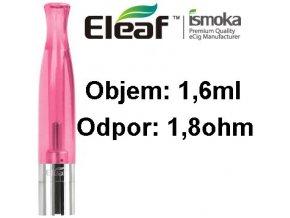 2000 ismoka eleaf bcc ct clearomizer 1 6ml 1 8ohm pink