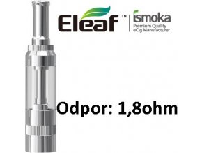8918 ismoka eleaf gs16 clearomizer 1 8ohm 2 6ml silver