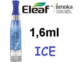 2258 ismoka eleaf ice clearomizer 2 4ohm 1 6ml blue