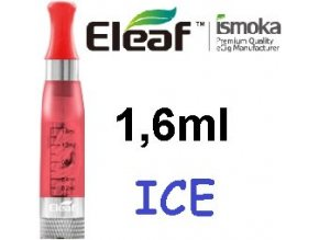2270 ismoka eleaf ice clearomizer 2 4ohm 1 6ml red
