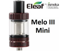7097 ismoka eleaf melo 3 mini clearomizer red crackle