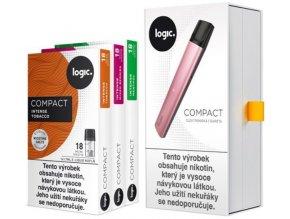 JTI Logic Compact Starter Kit elektronická cigareta 350mAh Pink