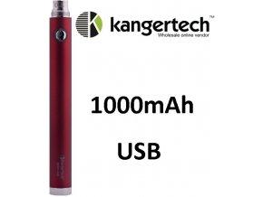 2084 kangertech evod baterie s usb 1000mah red