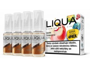 liqua cz elements 4pack dark tobacco 4x10ml6mg silny tabak