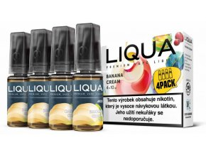 LIQUA MIX 4Pack Banana Cream 10ml 6mg