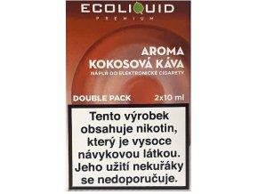 Liquid Ecoliquid Premium 2Pack Coconut Coffee 2x10ml - 18mg