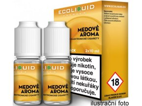 44296 liquid ecoliquid premium 2pack honey 2x10ml 3mg med