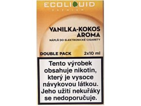 Liquid Ecoliquid Premium 2Pack Vanilla Coconut 2x10ml - 18mg