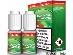 44320 liquid ecoliquid premium 2pack watermelon 2x10ml 3mg vodni meloun