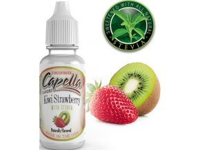 4247 prichut capella 13ml kiwi strawberry with stevia kiwi a jahoda se stevii