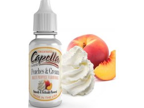 4274 prichut capella 13ml peaches and cream broskve se slehackou