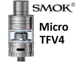 3422 smoktech micro tfv4 clearomizer silver