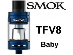 8024 smoktech tfv8 baby clearomizer blue