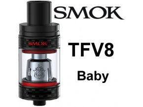 7829 smoktech tfv8 baby clearomizer carbon black