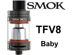 8027 smoktech tfv8 baby clearomizer gun metal