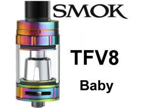 8033 smoktech tfv8 baby clearomizer rainbow
