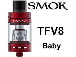 8030 smoktech tfv8 baby clearomizer red