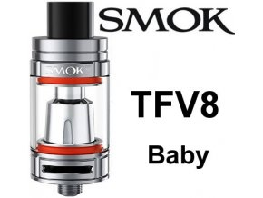 4331 smoktech tfv8 baby clearomizer silver