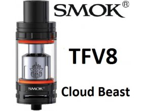3908 smoktech tfv8 cloud beast clearomizer black
