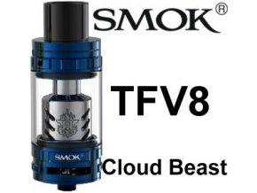 5204 smoktech tfv8 cloud beast clearomizer blue