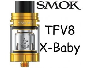 8710 smoktech tfv8 x baby clearomizer gold