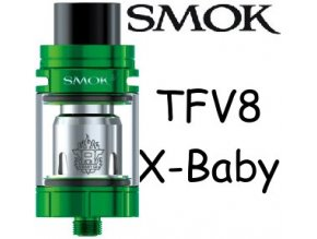 8713 smoktech tfv8 x baby clearomizer green
