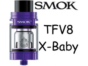 8716 smoktech tfv8 x baby clearomizer purple