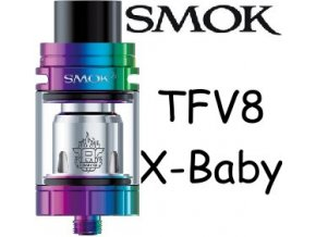 8722 smoktech tfv8 x baby clearomizer rainbow