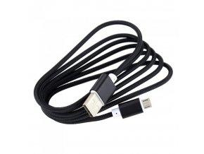 Univerzální MICRO USB kabel 2A Black (2000mA) High Quality