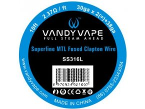 72524 vandy vape superfine mtl fused clapton ss316l