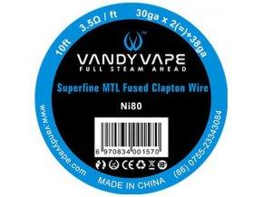 70097 vandy vape superfine mtl odporovy drat ni80 3m
