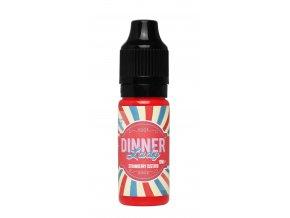 DINNER LADY Strawberry Custard (balení 3 kusy, objem 10 ml, síla nikotinu 6 mg)
