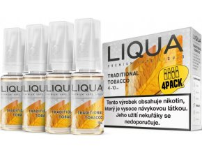 liquid liqua cz elements 4pack traditional tobacco 4x10ml12mg tradicni tabak