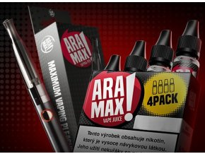 ARAMAX Výhodná Sada 4Pack Strawberry 6mg + cigareta Aramax Vaping Pen