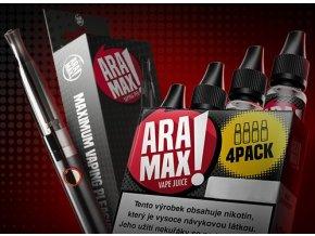 ARAMAX Výhodná Sada 4Pack Usa Mix 12mg + e-cigareta Aramax Vaping Pen