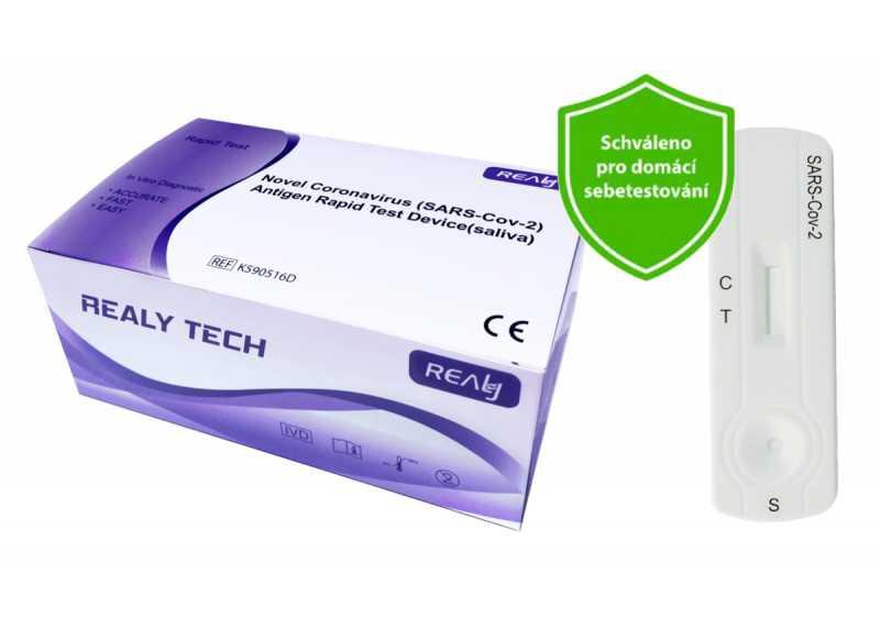 Hangzhou Realy Tech Novel Coronavirus SARS-Cov-2 Antigen Rapid Test Device saliva 10 ks