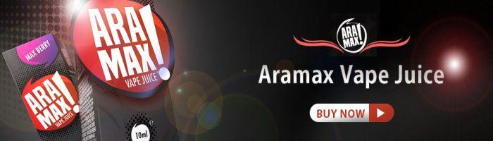 Aramax liquid, vhodné pro všechny typy elektronických cigaret. Díky 50% VG se proměňují v dostatečně velké množství páry.