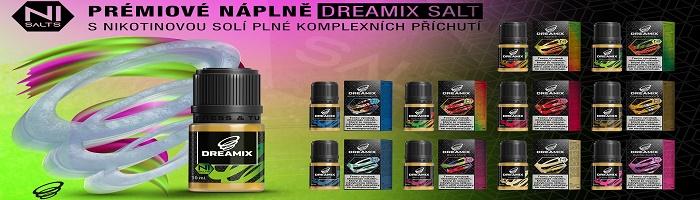 Série e-liquidů Dreamix SALT obsahuje nikotinové soli. Oproti běžnému nikotinu nabízí hned několik výhod.