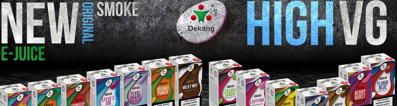 Náplň do elektronických cigaret Čínského výrobce Dekang v poměru - PG 30% a VG 70%.