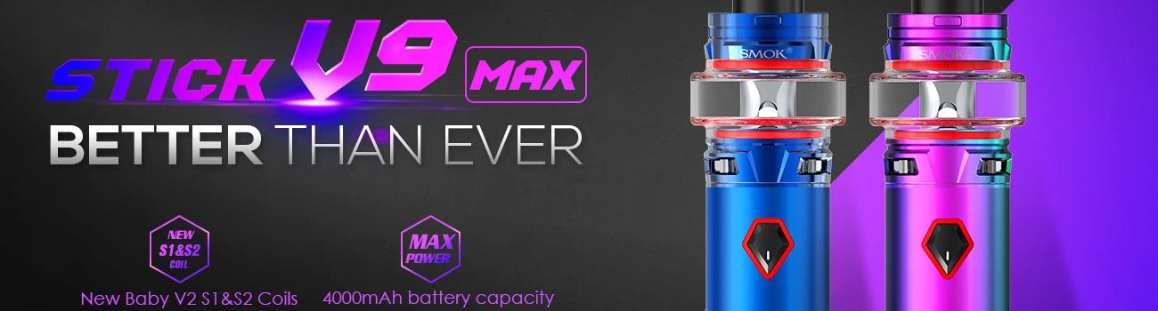 Elektronická cigareta Smok Stick V9 4000mAh, E-cigareta vychází z osvědčeného a velmi populárního modelu Stick V8, Sada pro přímé potahování.