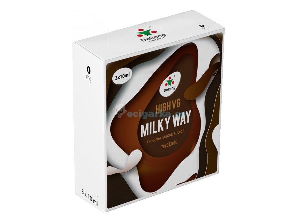 liquid dekang high vg 3pack milky way 3x10ml 0mg