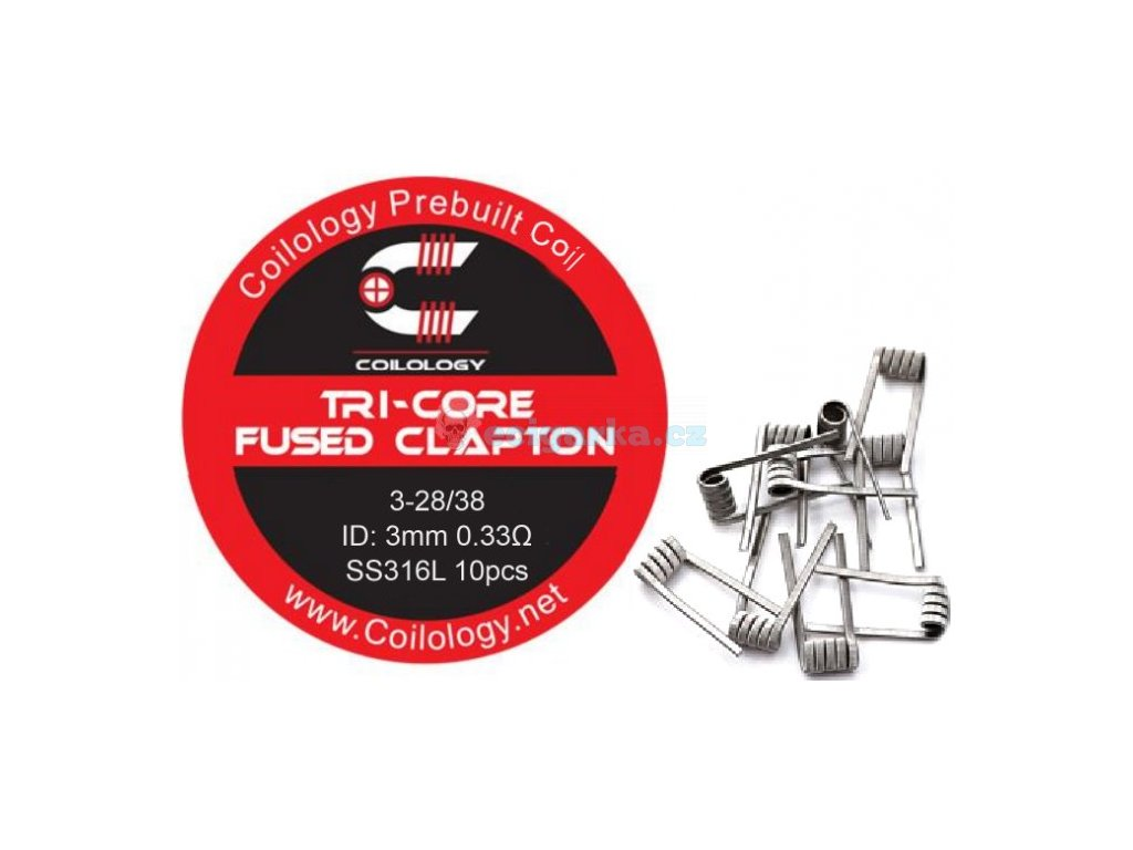 coilology tricore fused clapton predmotane spiralky ss316 033ohm 10ks