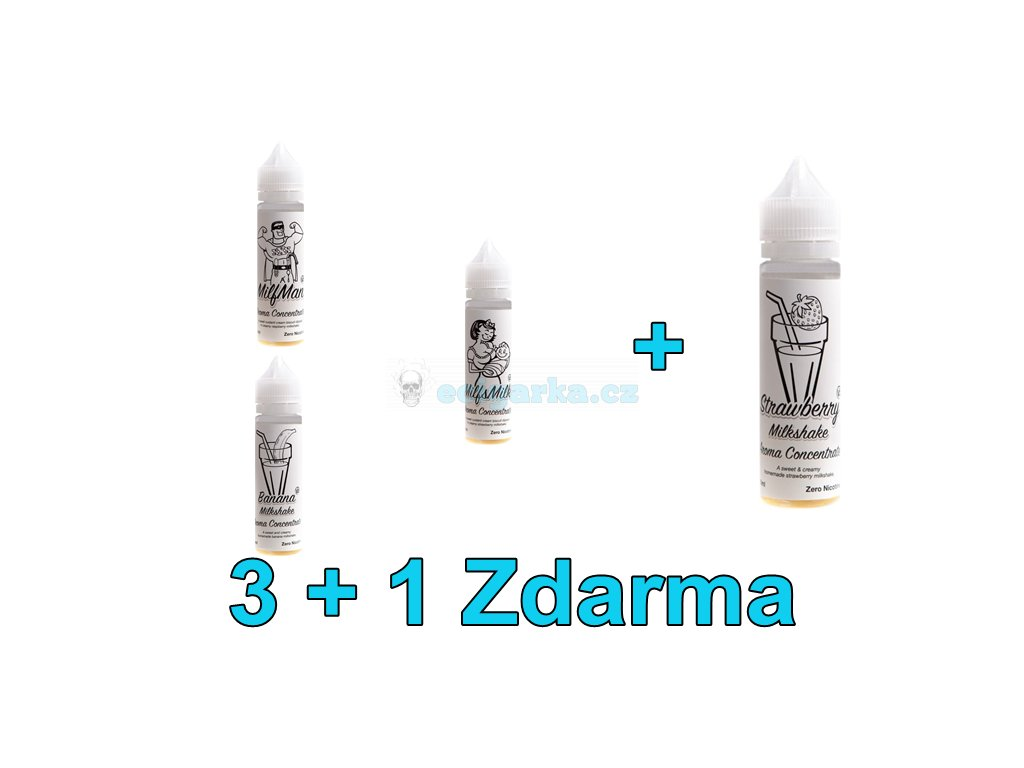 Akce liquidy 3+1 Milkshakes