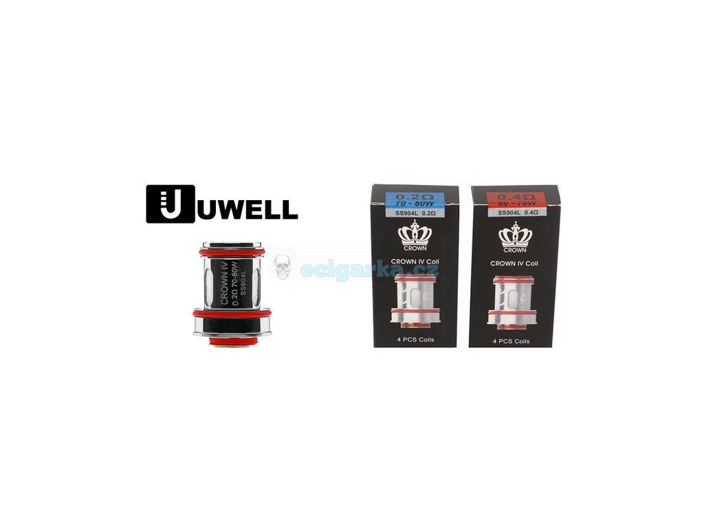 hlavičky Uwell Crown IV