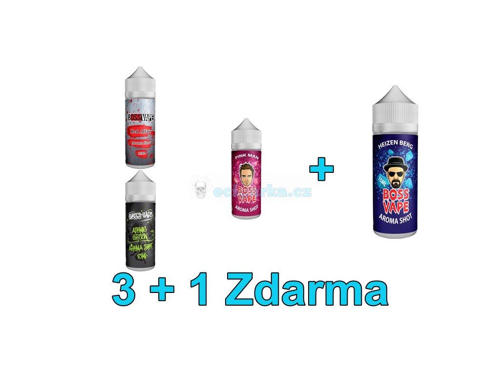 Akce liquidy 3+1 Boss Vape