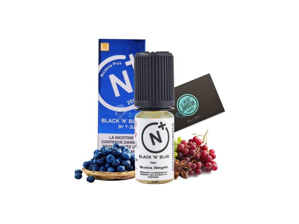 black n blue tjuice with nicotine salts