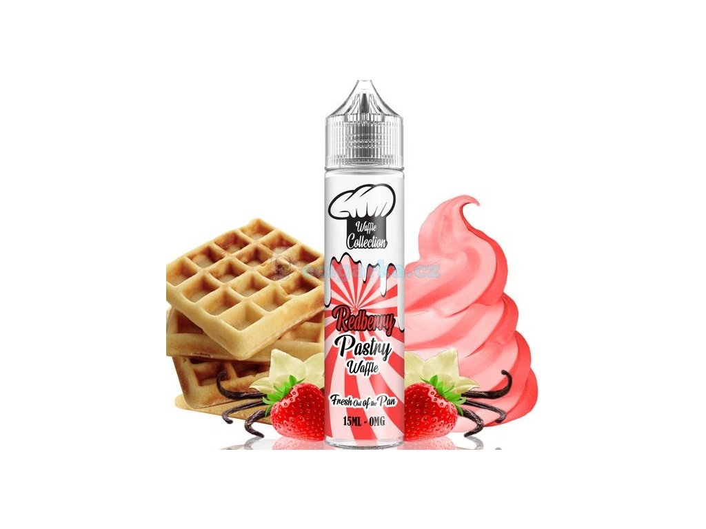prichut waffle collection shake and vape 15ml redberry pastry
